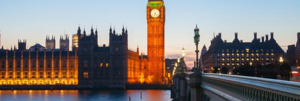 Big Ben v Londýně v noci